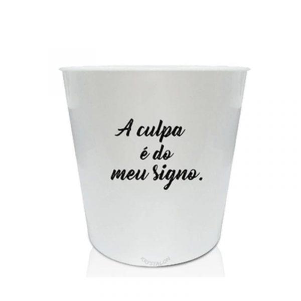 Balde de Pipoca Personalizado com Frase Sobre Signos 2 Litros