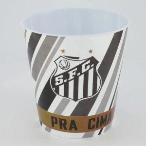 Balde de Pipoca do Santos com Escudo Branco 3 Litros