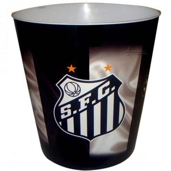 Balde de Pipoca do Santos com Escudo do time 3 Litros