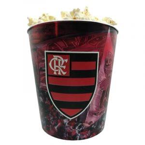 Balde de pipoca do Flamengo Futebol 3 litros 18 x 17 cm