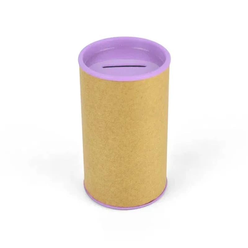 Cofrinho de Papelão com Plástico Lilás