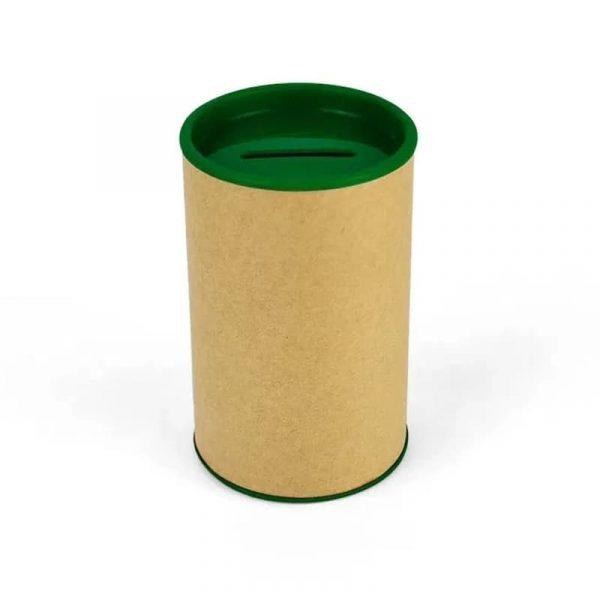 Cofrinho de Papelão Verde