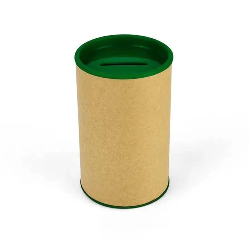 Cofrinho de Papelão com Plástico Verde