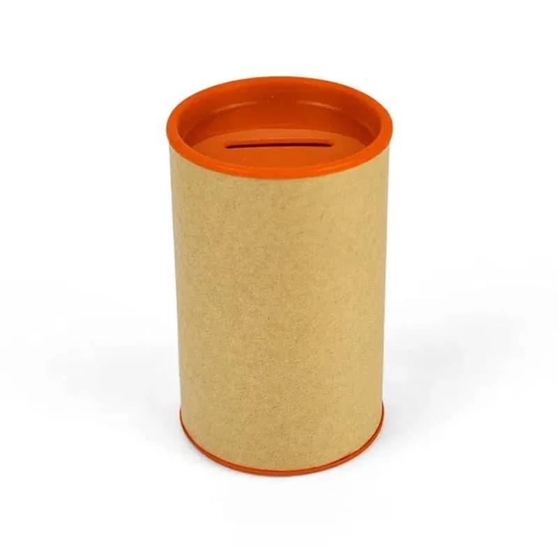 Cofrinho de Papelão com Plástico Laranja