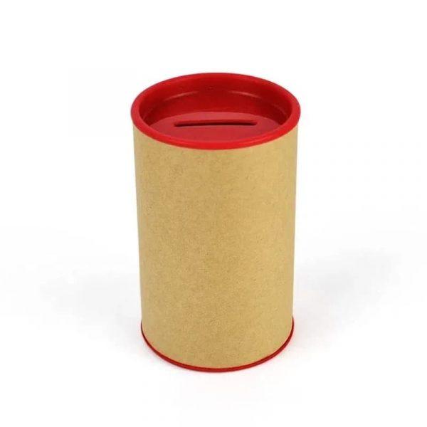 Cofrinho de papelão Vermelho