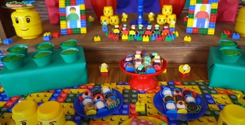 Festa de Aniversário Infantil com Tema Lego Parte 2