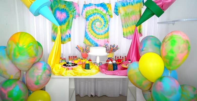 Festa de Aniversário Tema Tie Dye