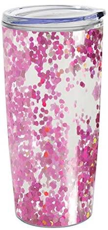 Creative Brands Slant Collections – Copo de acrílico para viagem com tampa deslizante, 510 g, confete