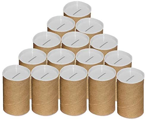 Cofrinho de papelão para personalizar branco – 06 unidades