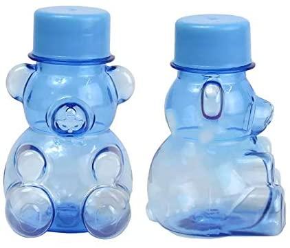 50 Tubetes Ursinho Azul Lembrancinha de Chá de Bebê Tampa plástica CB294