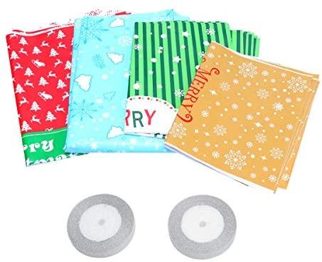 Sacola de plástico para presente de Natal da Toppathy, bolsa de armazenamento de doces de grande capacidade para presente de festa de Natal e lembrancinhas de festa