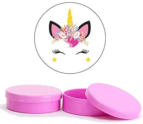 Kit Festa Unicornio 2-50 Latinhas de Plástico 50 Adesivos – Pink