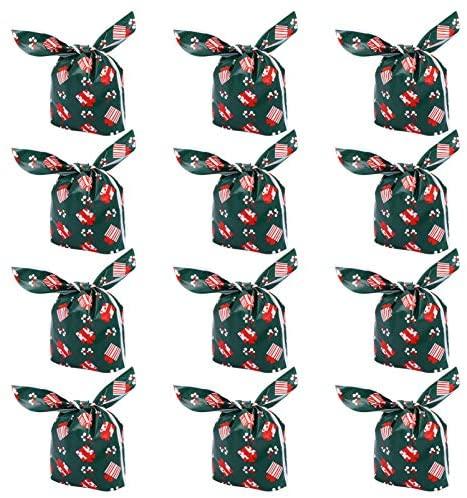 STOBOK 50 Peças de Sacola de Doces de Natal Sacolas de Presentes de Natal Com Cordão de Plástico Cor 1