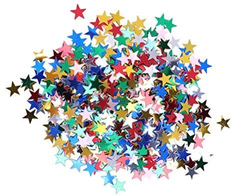 """3 pacotes de estrelas de confetes estrelados metálicas com lantejoulas para decoração de festas de casamento, festivais, artigos de decoração """"faça você mesmo"""" da Pretyzoom"""