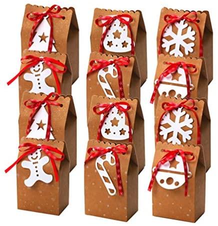 Lioobo Caixas de Papel Kraft Bolsa de Biscoito Pacote para Aniversário e Feriado Acessórios Decorativos de Lembrancinhas 18 Peças
