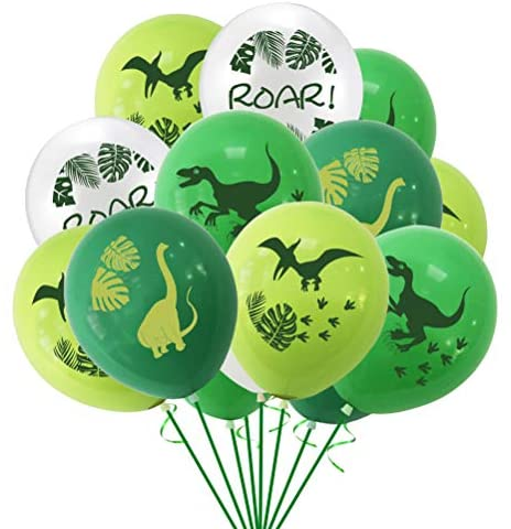 FUNZZY Balões de Dinossauro Monstera Criativos Folhas Balões Layout Decoração de Festa Artigos para Decoração Havaí 61 cm (Verde)