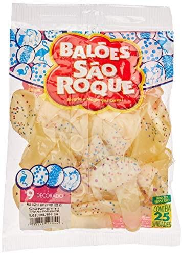 Balão Decorado N.090 Confetti – Pacote com 25 Unidade(s), São Roque, 10812518625, Multicor