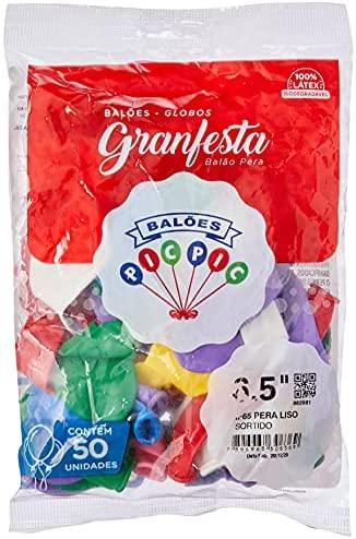 Balao Gran Festa N065 Misto – Pacote Com 50 Riberball