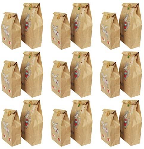 Bolsas de Natal Besportble, 48 peças, sacos de papel kraft para assar, embalagem, sacolas de presente para loja