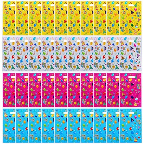 Toyvian Sacos de Presente de Festa de Aniversário 40 Unidades de Plástico para Festas