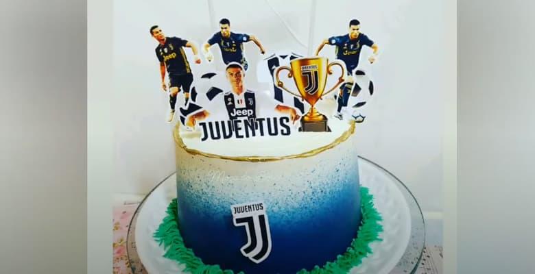 Bolo do Time de Futebol do Juventus para Aniversário