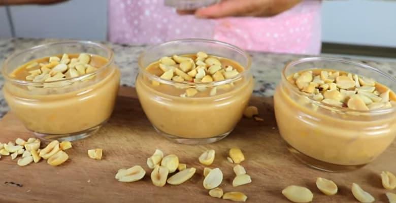 doce de amendoim de colher